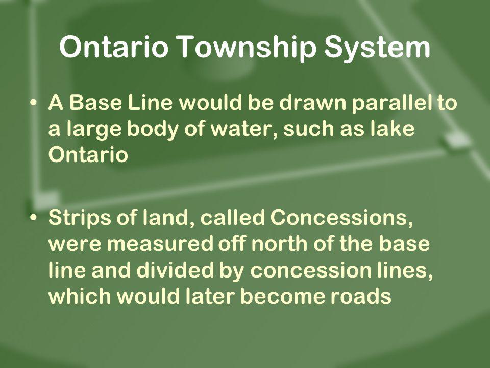 Ontario Township System