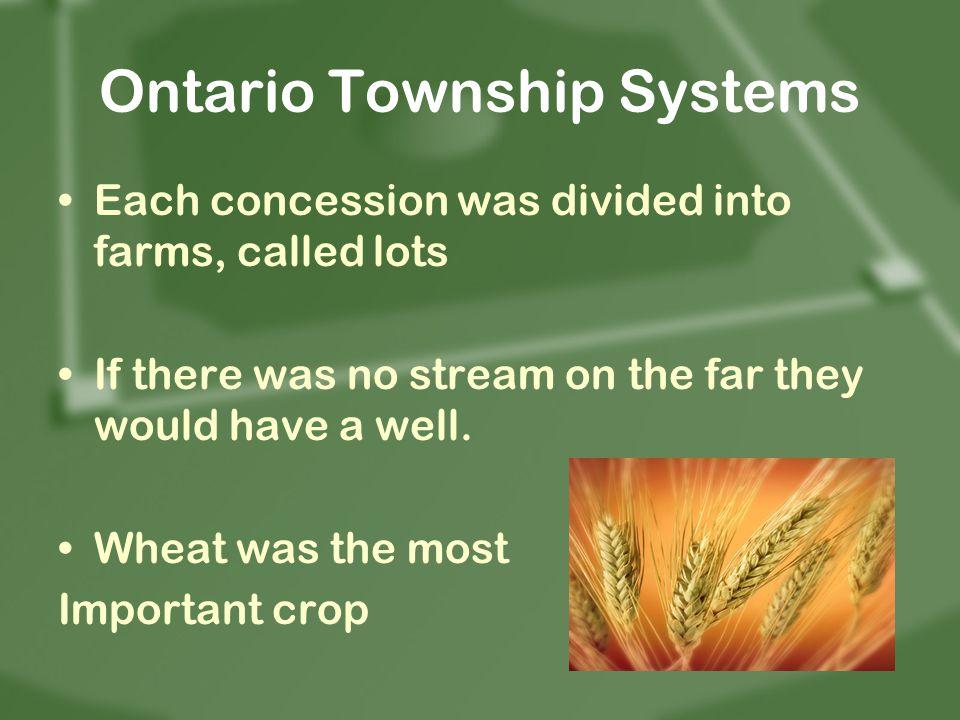 Ontario Township Systems
