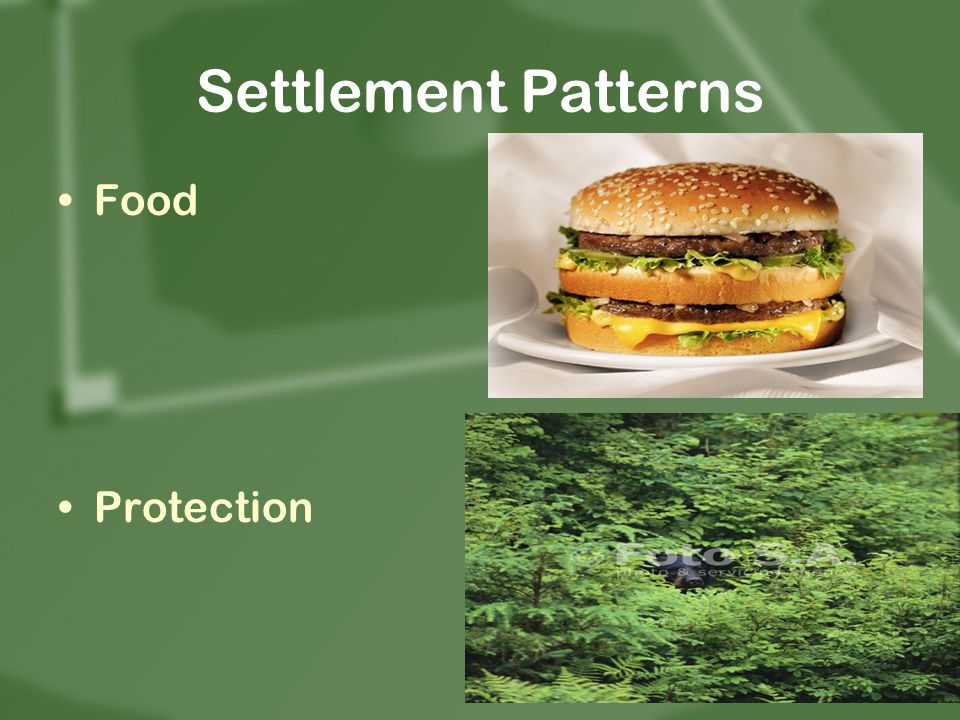 Settlement Patterns Food Protection