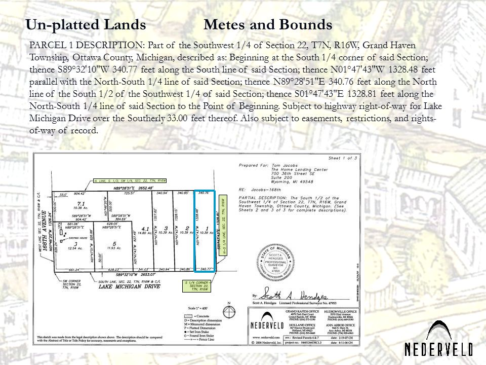 Un-platted Lands Metes and Bounds