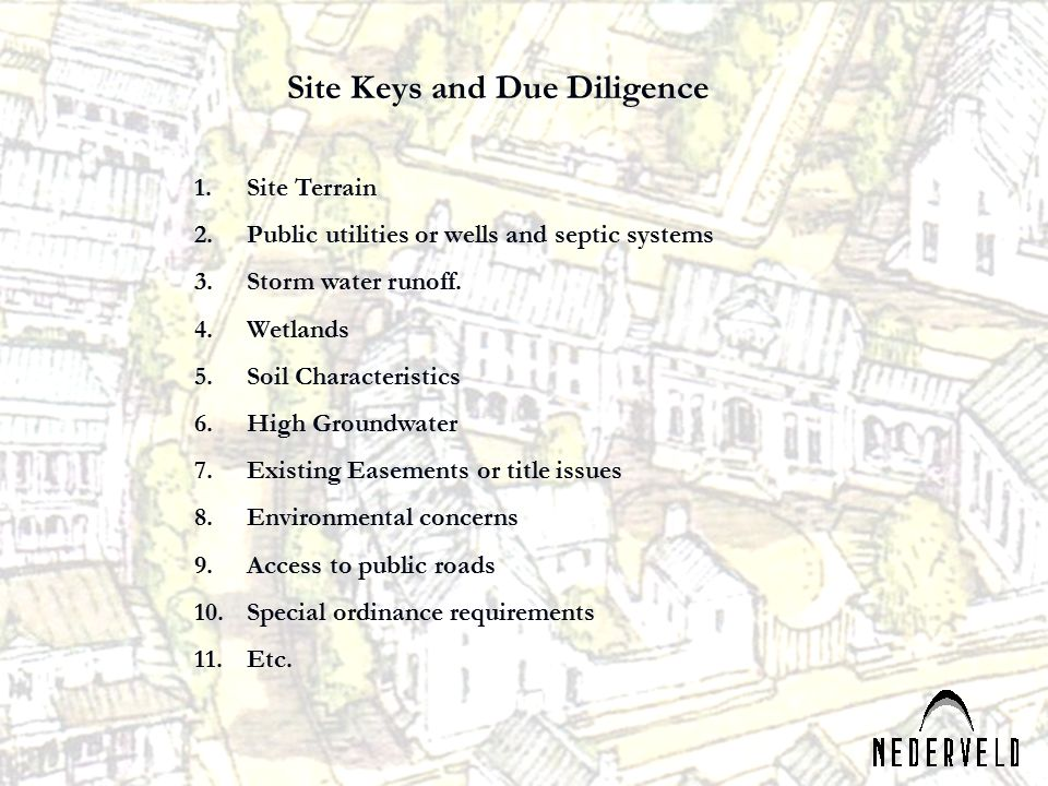 Site Keys and Due Diligence
