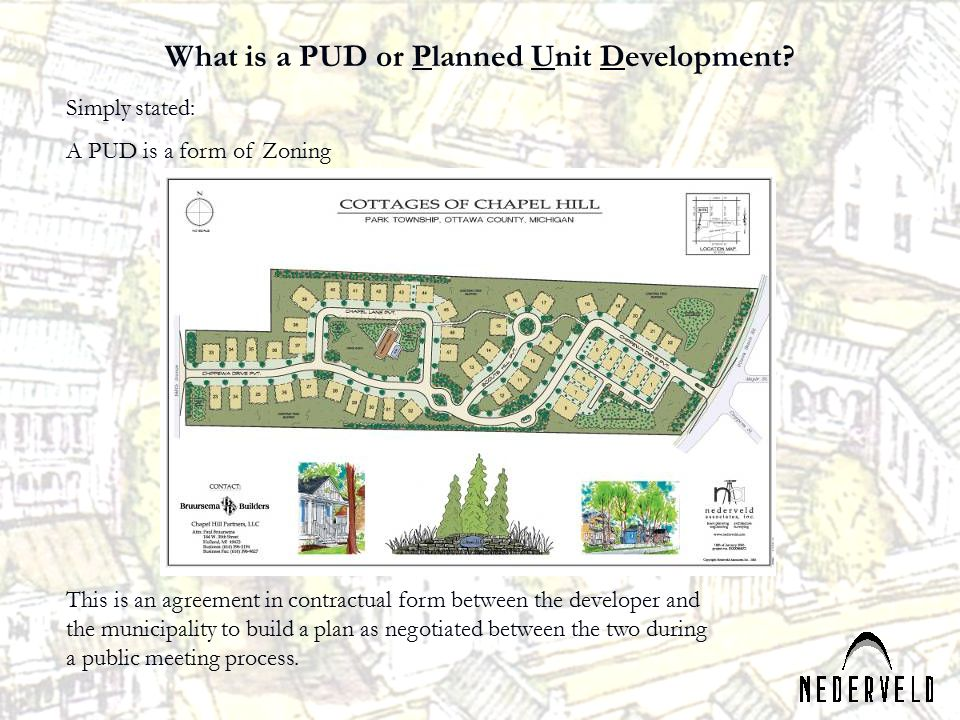 What is a PUD or Planned Unit Development