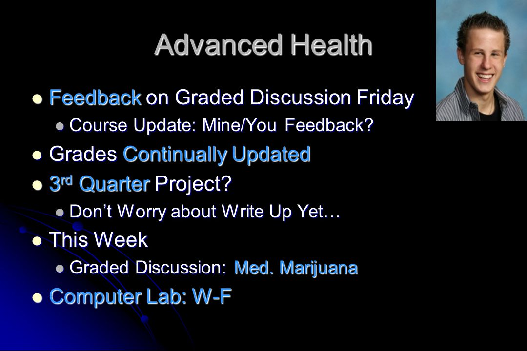 Advanced Health Feedback on Graded Discussion Friday