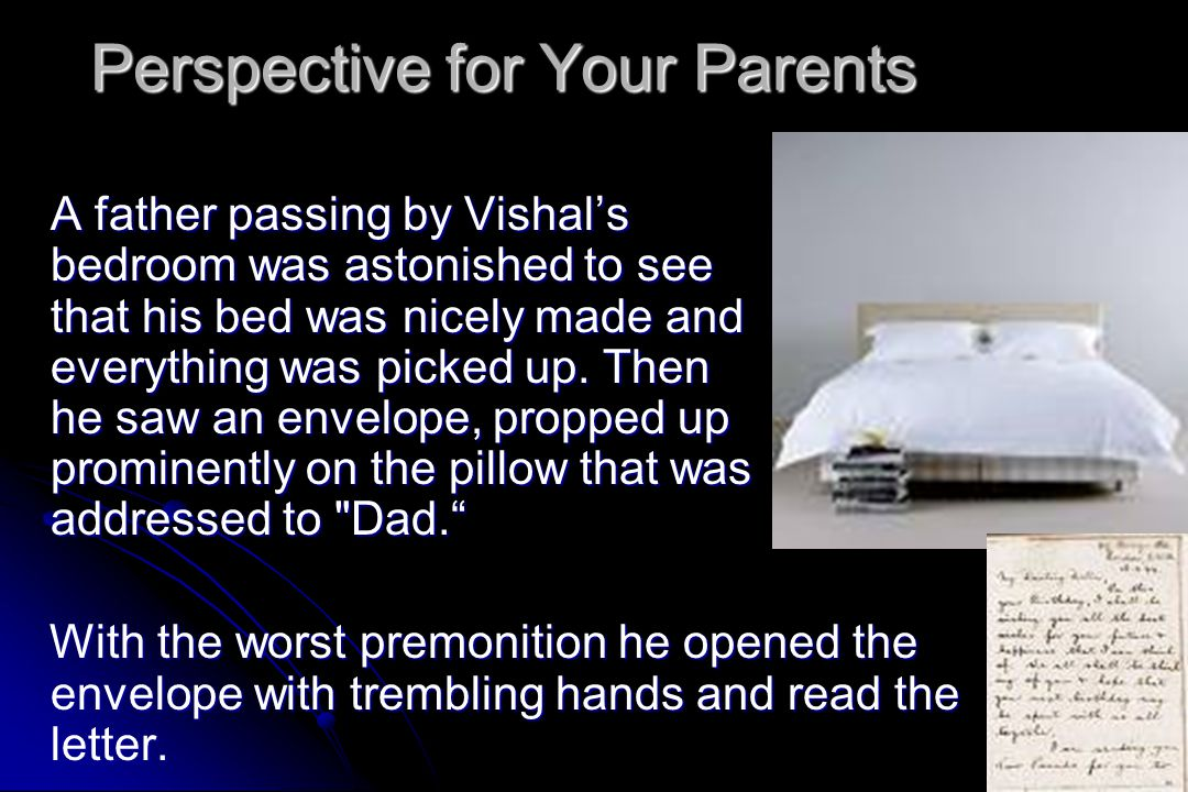 Perspective for Your Parents