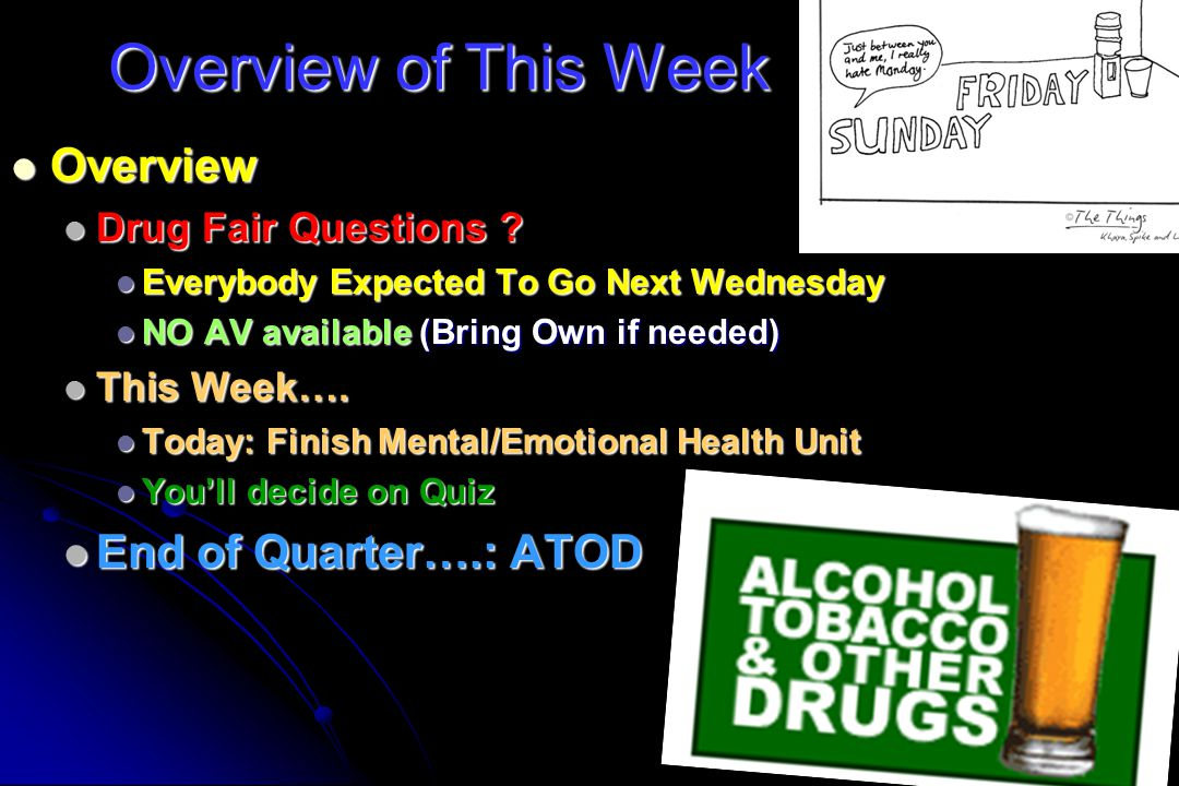 Overview of This Week Overview End of Quarter….: ATOD