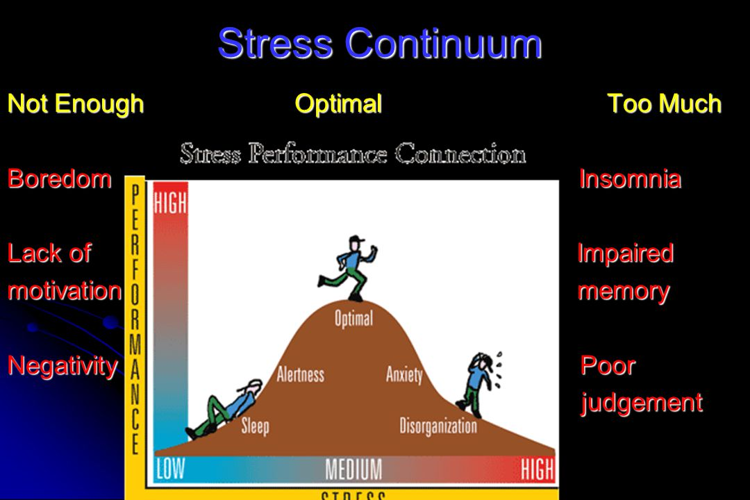 Stress Continuum Not Enough Optimal Too Much Boredom Insomnia