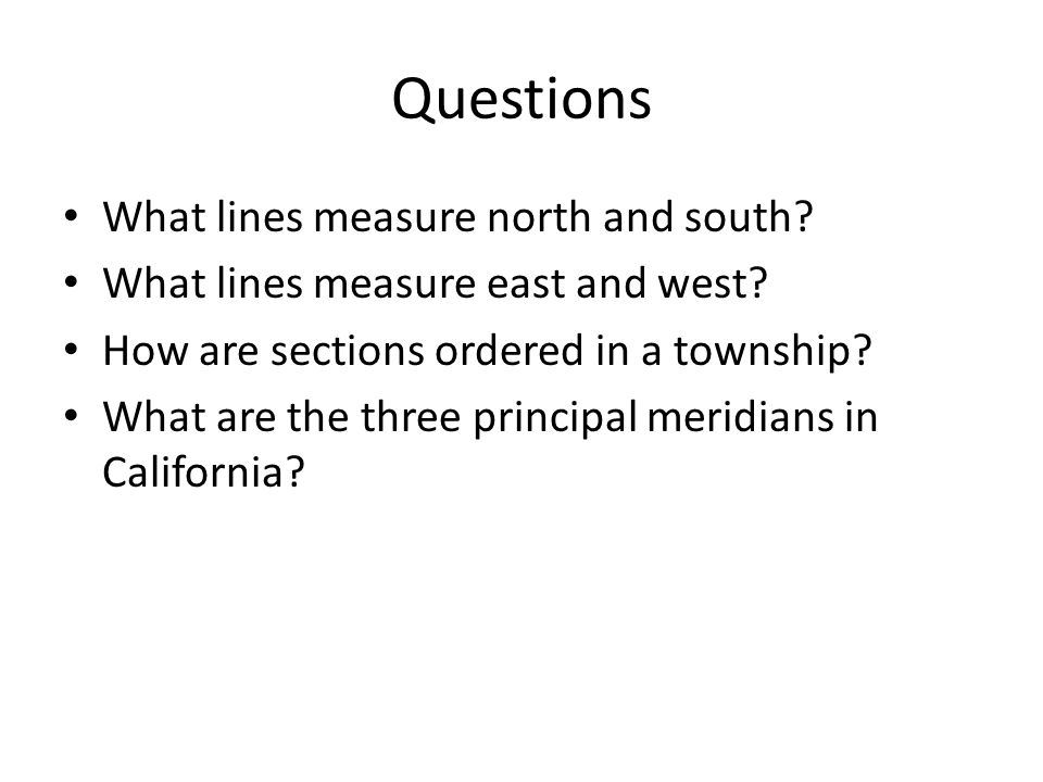 Questions What lines measure north and south