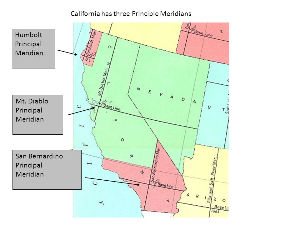 California has three Principle Meridians