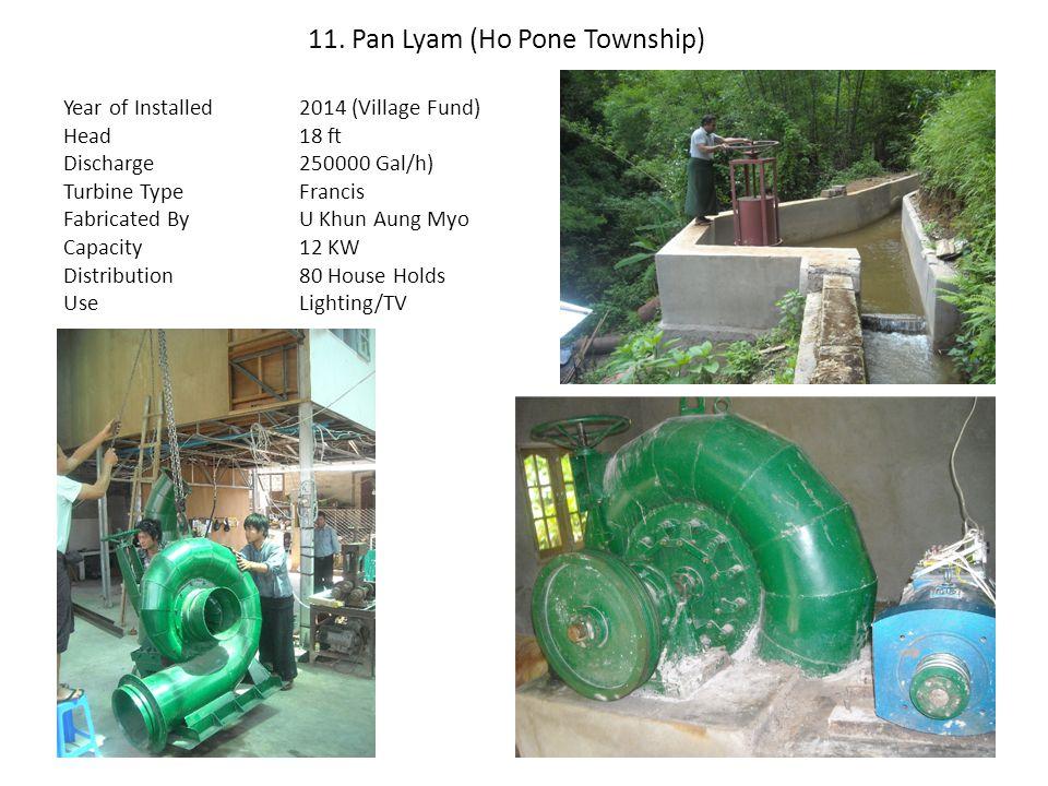 11. Pan Lyam (Ho Pone Township)