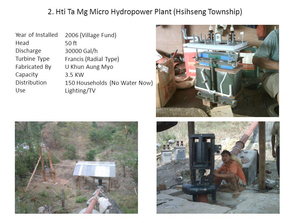 2. Hti Ta Mg Micro Hydropower Plant (Hsihseng Township)