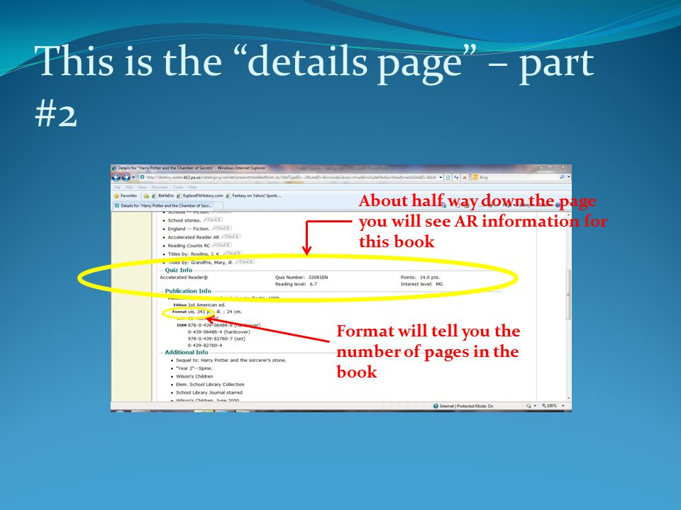 This is the details page – part #2