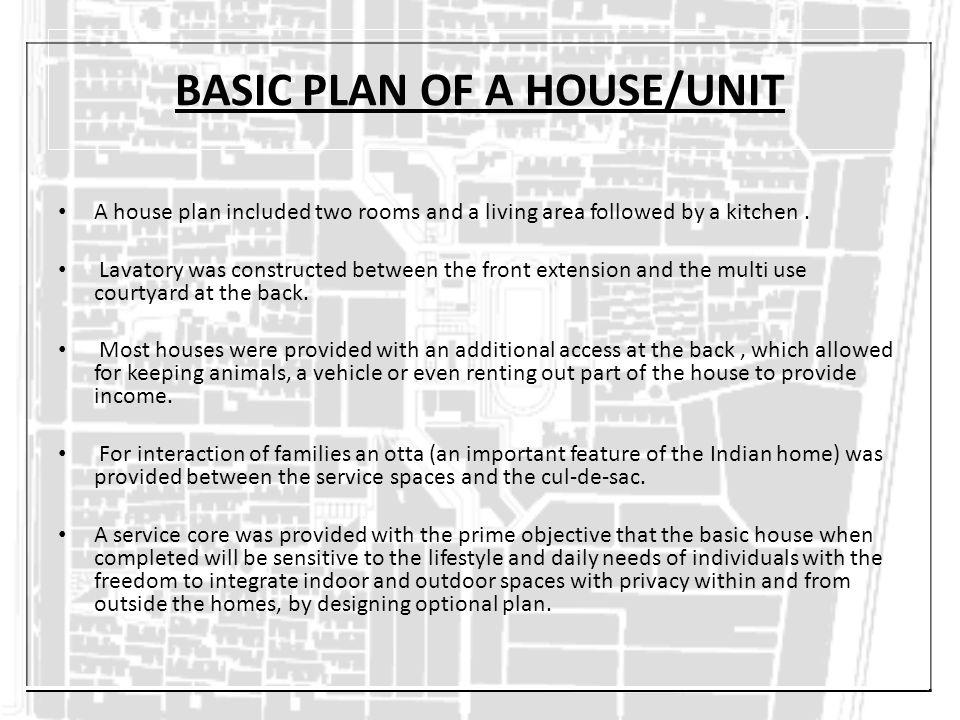 BASIC PLAN OF A HOUSE/UNIT