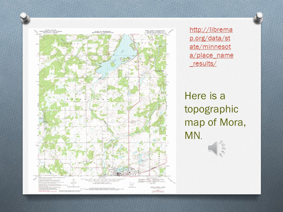 Here is a topographic map of Mora, MN.