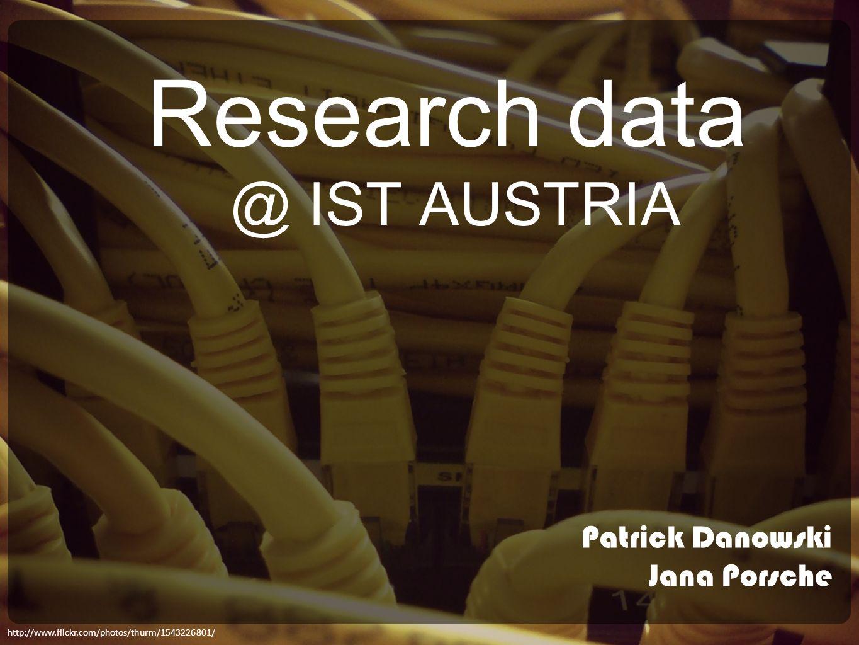 Research data @ IST AUSTRIA