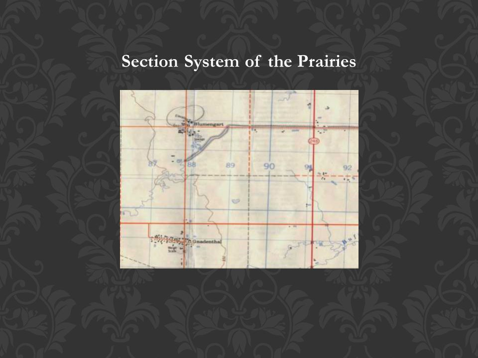 Section System of the Prairies