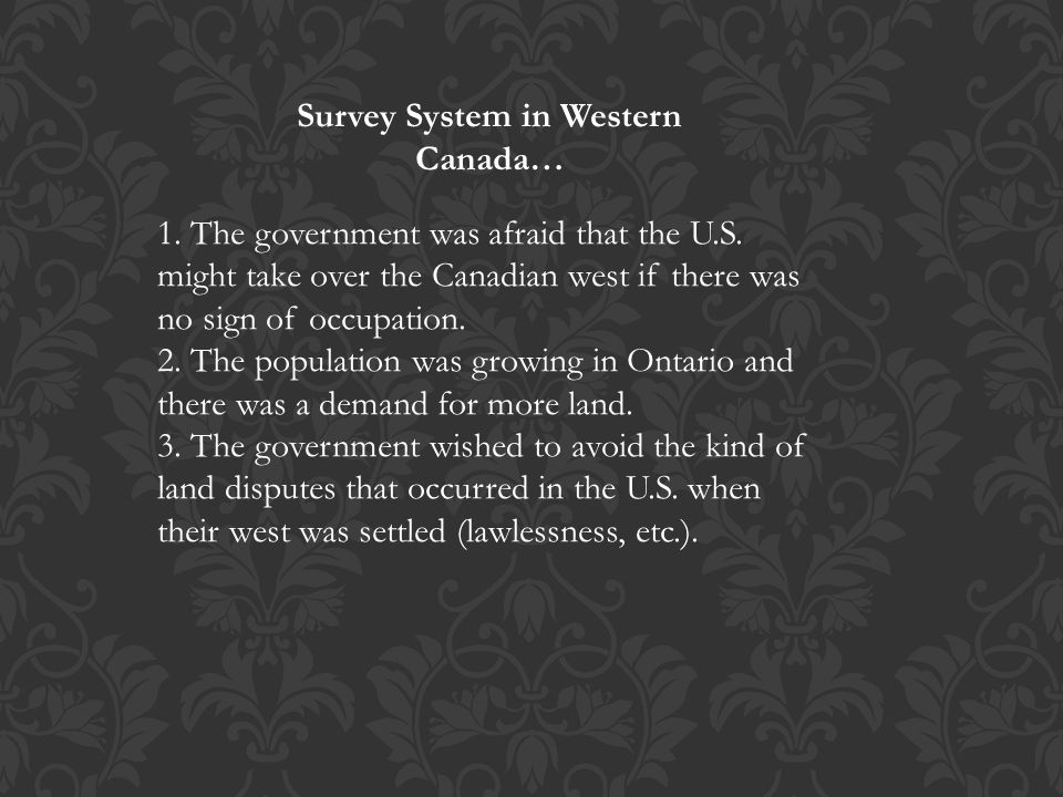 Survey System in Western