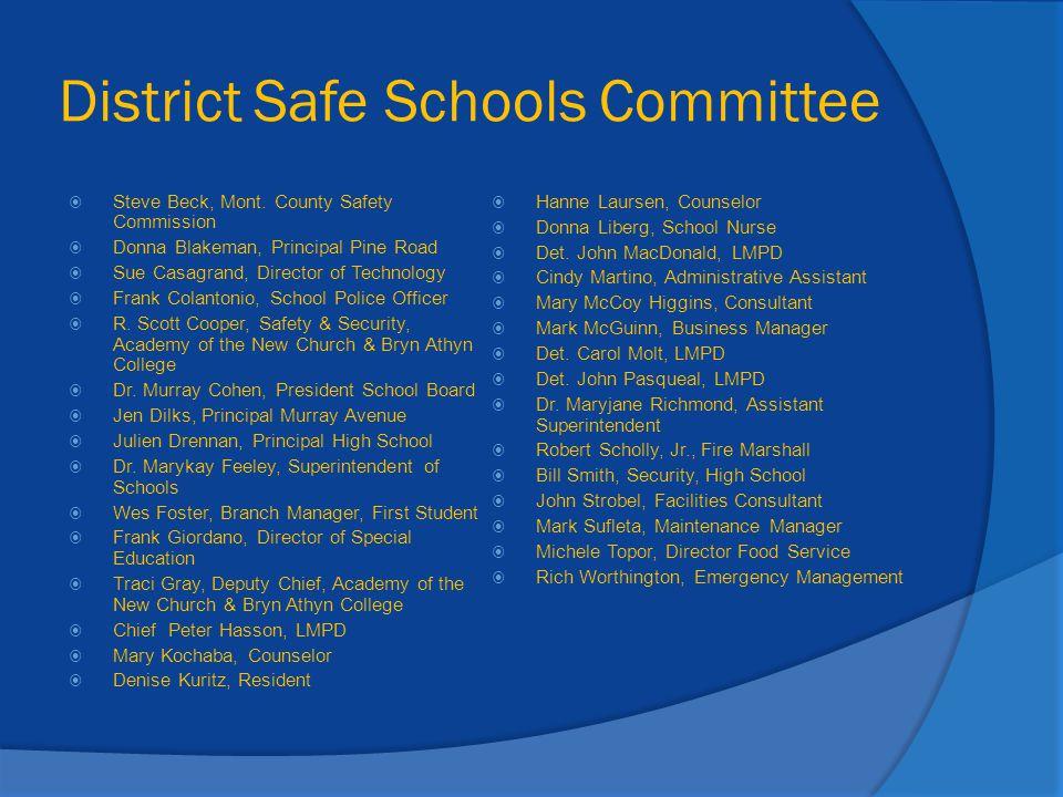 District Safe Schools Committee