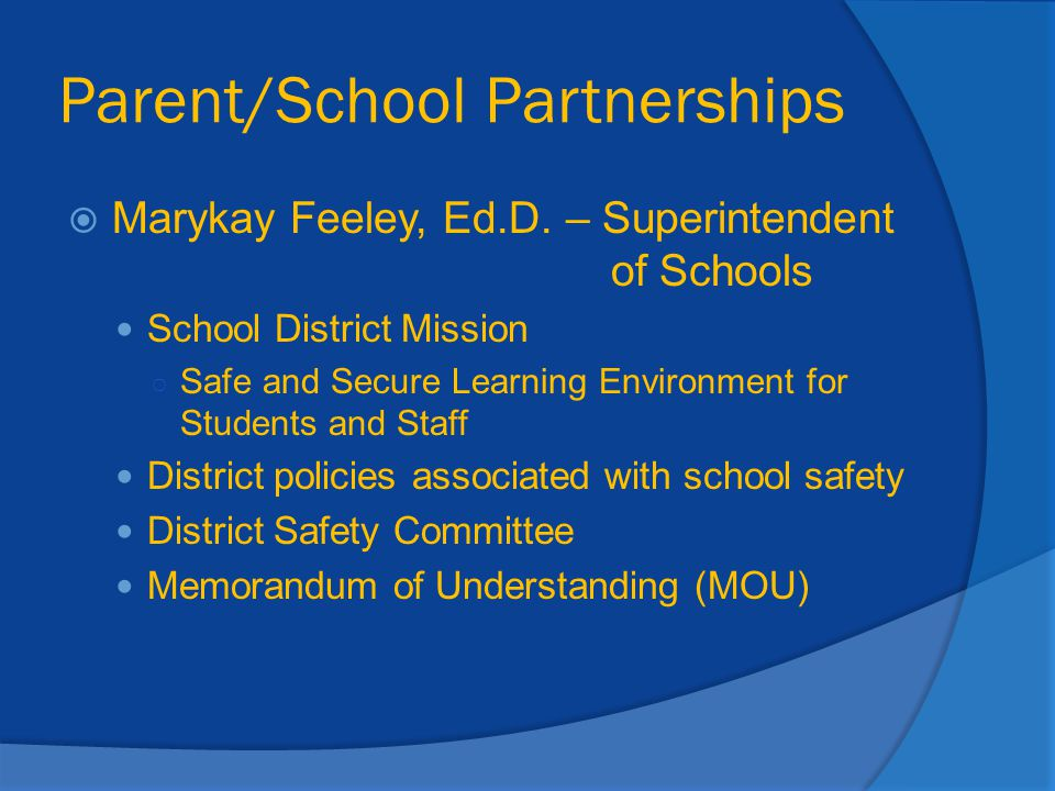 Parent/School Partnerships