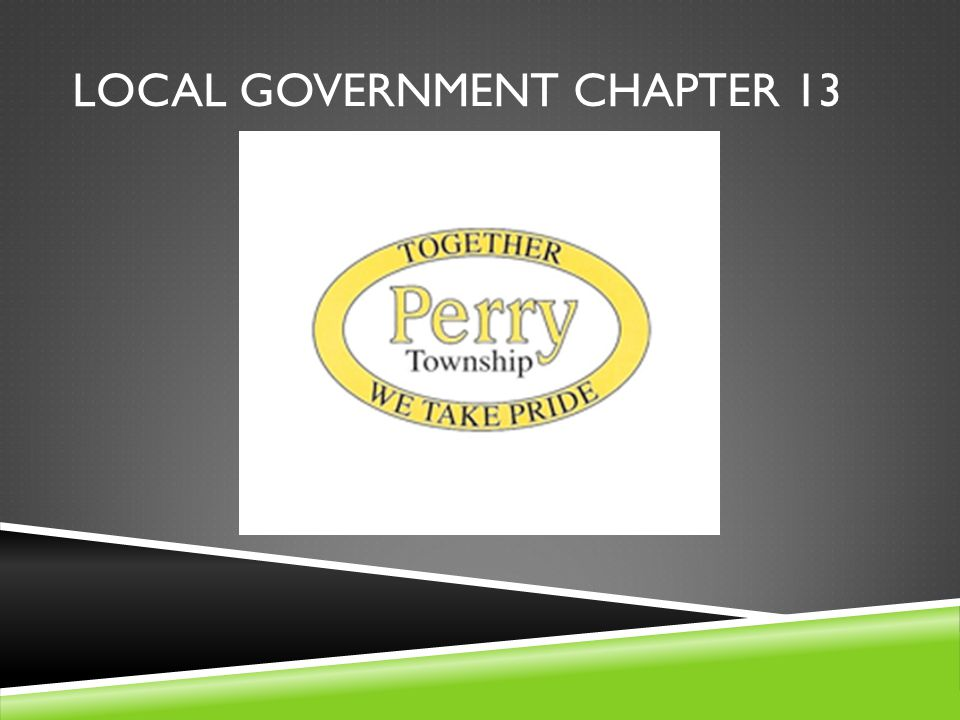 Local government chapter 13