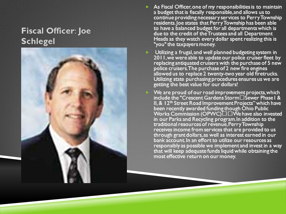Fiscal Officer: Joe Schlegel