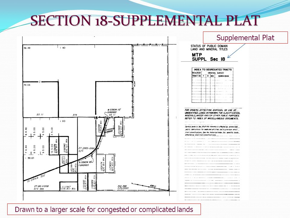 SECTION 18-SUPPLEMENTAL PLAT