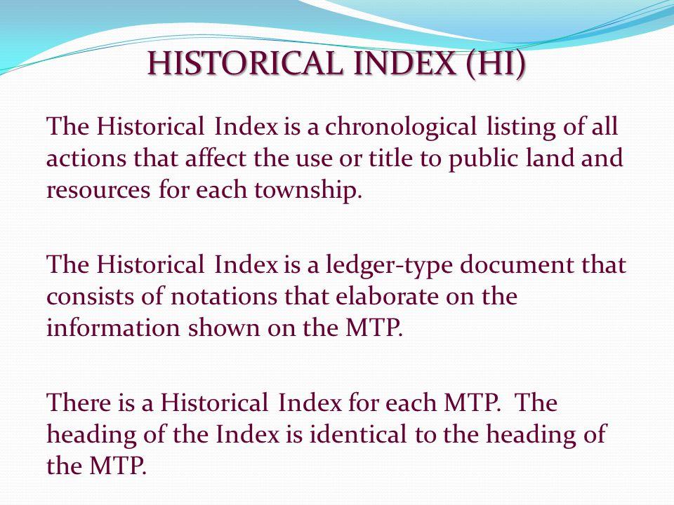 HISTORICAL INDEX (HI)