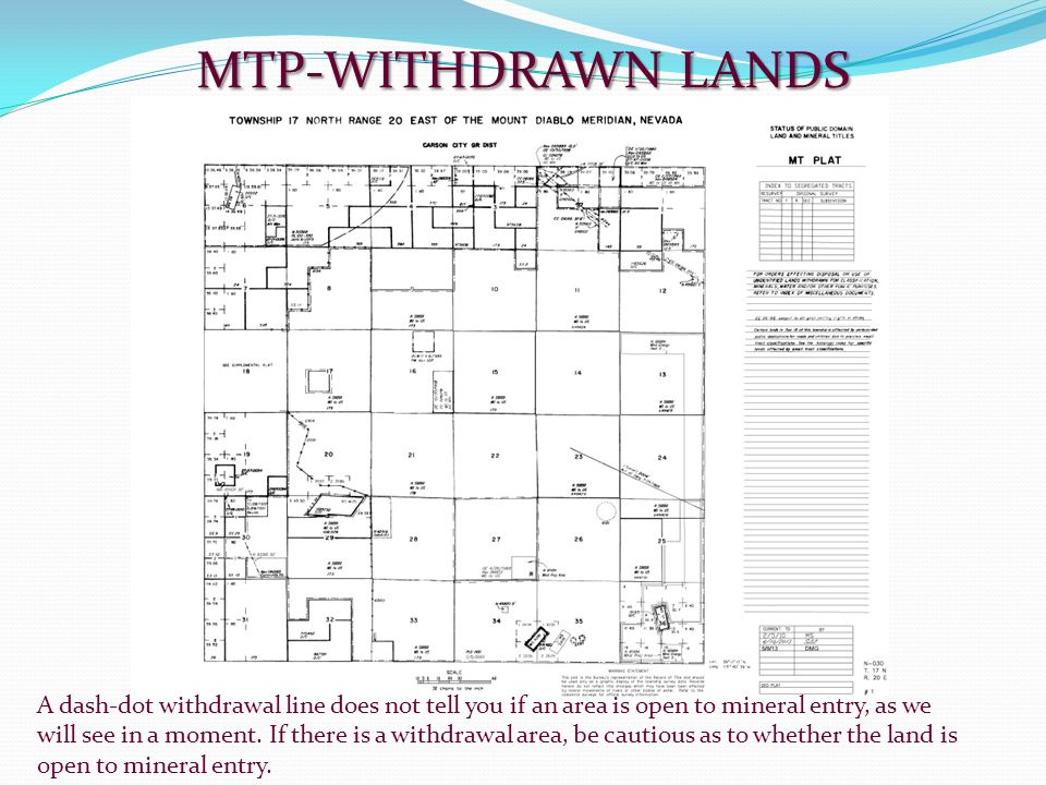 MTP-WITHDRAWN LANDS
