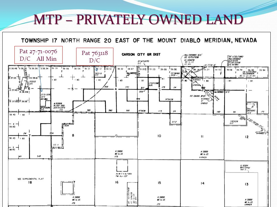 MTP – PRIVATELY OWNED LAND