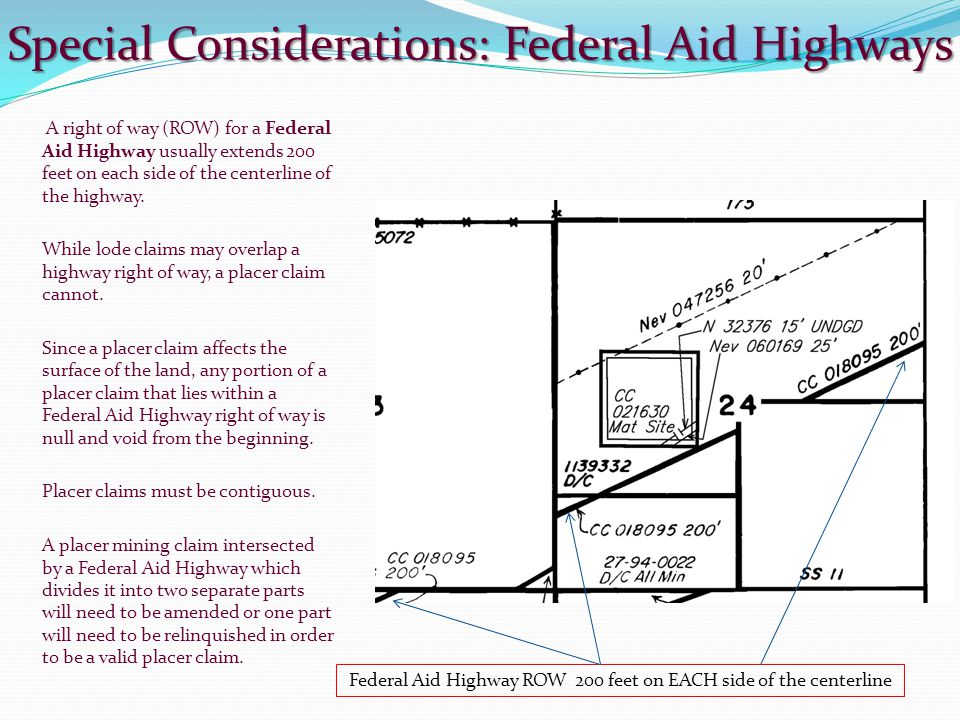 Special Considerations: Federal Aid Highways