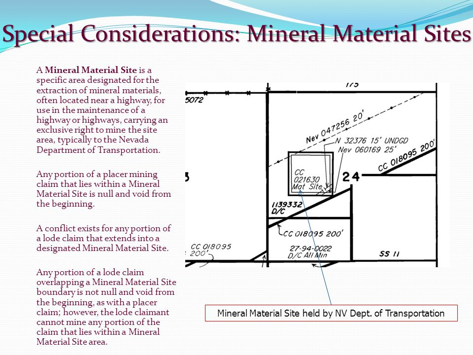 Special Considerations: Mineral Material Sites
