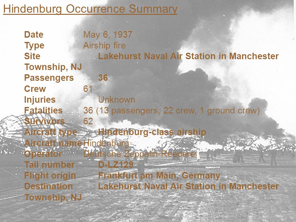 Hindenburg Occurrence Summary