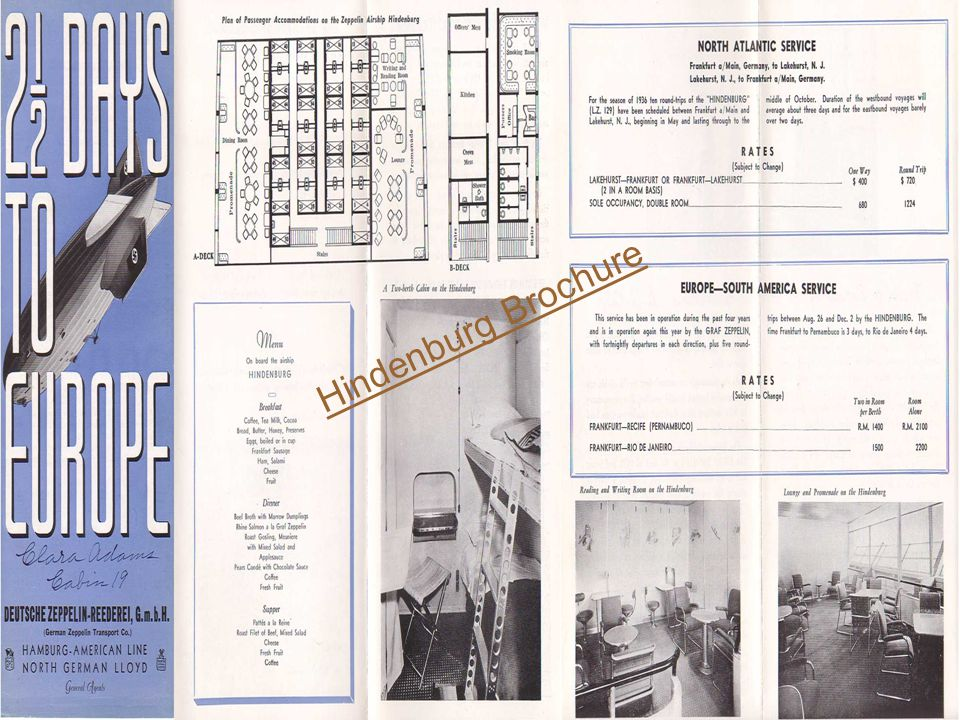 Hindenburg Brochure