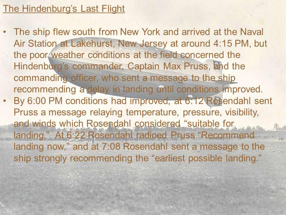 The Hindenburg's Last Flight