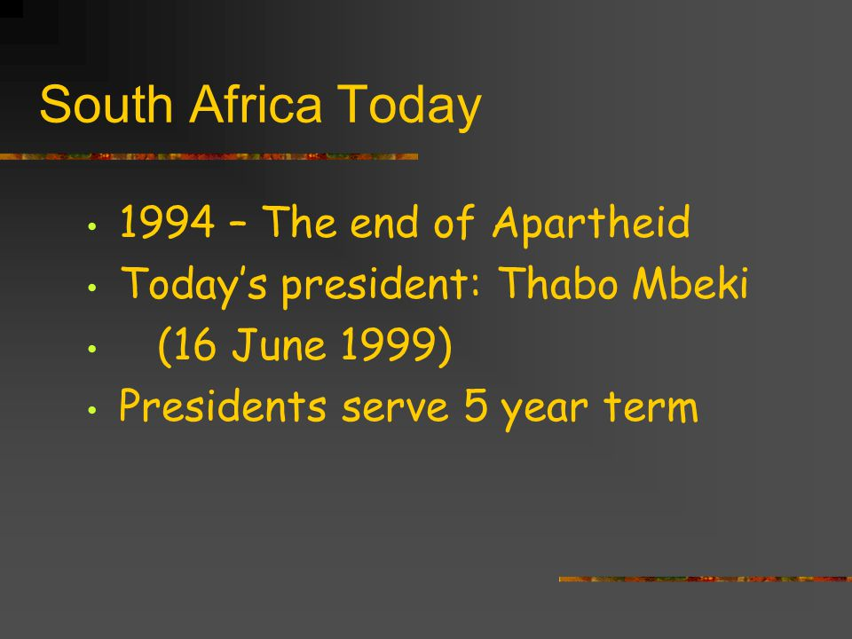 South Africa Today 1994 – The end of Apartheid