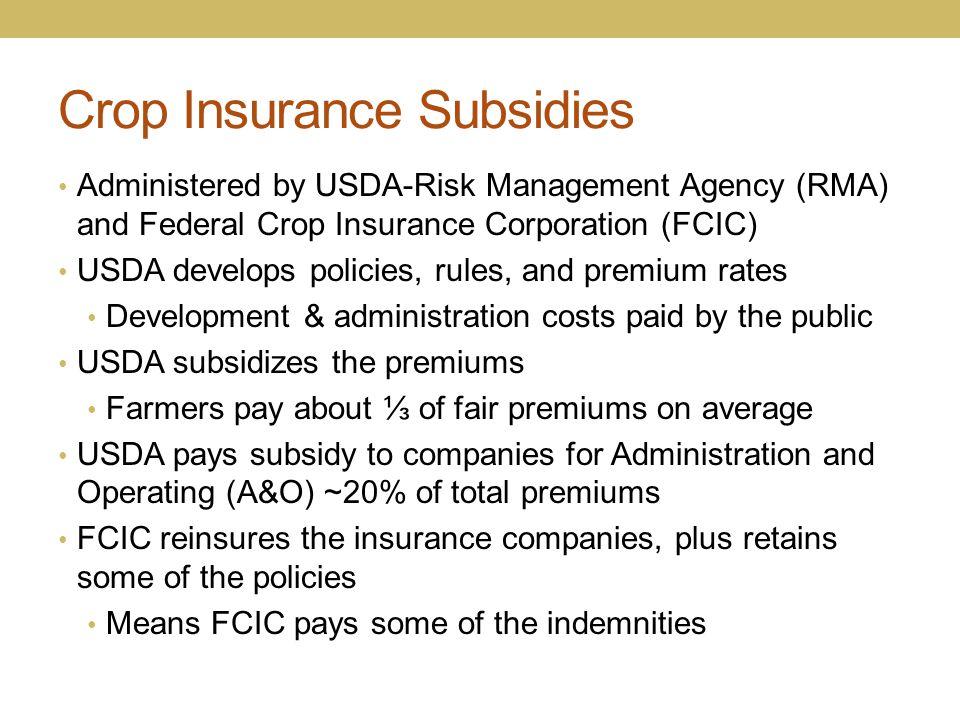 Crop Insurance Subsidies