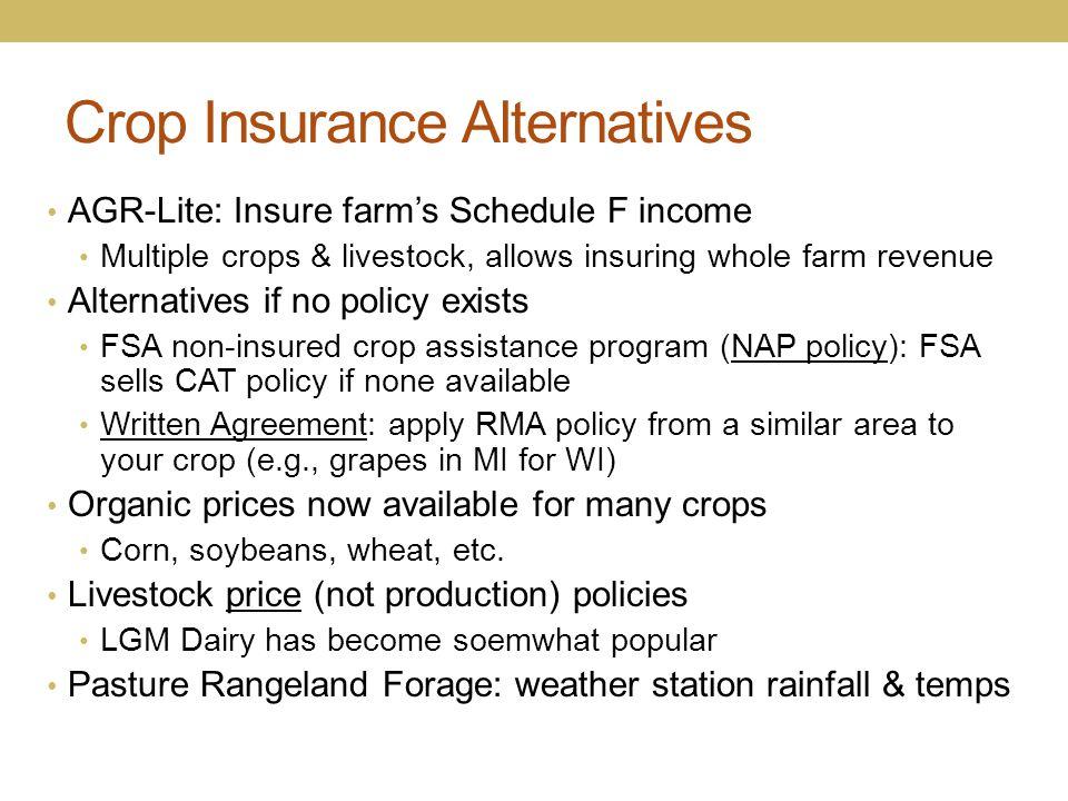Crop Insurance Alternatives