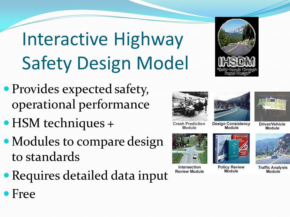 Interactive Highway Safety Design Model