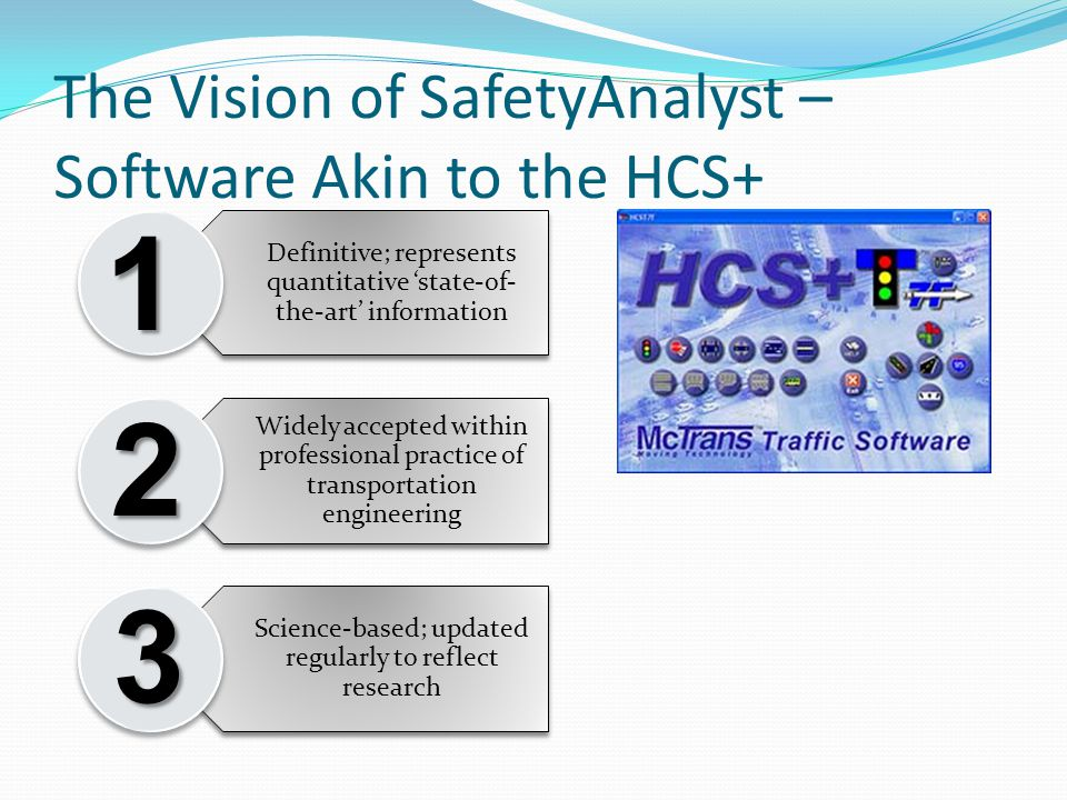 The Vision of SafetyAnalyst – Software Akin to the HCS+