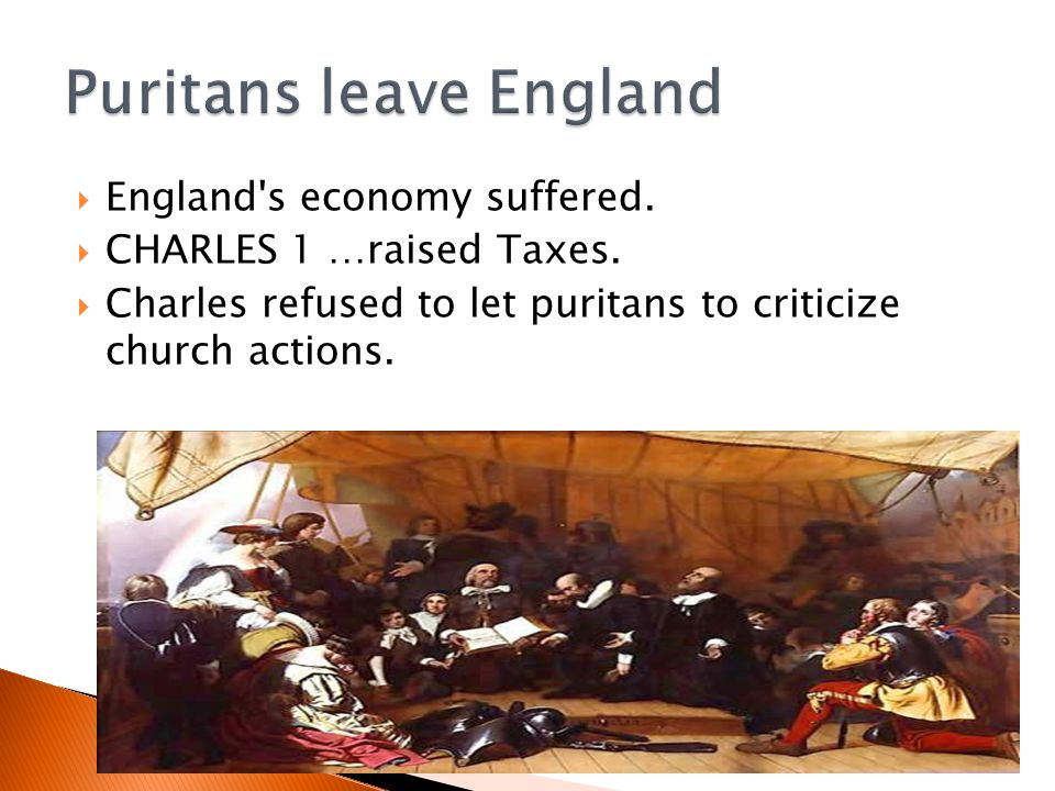 Puritans leave England