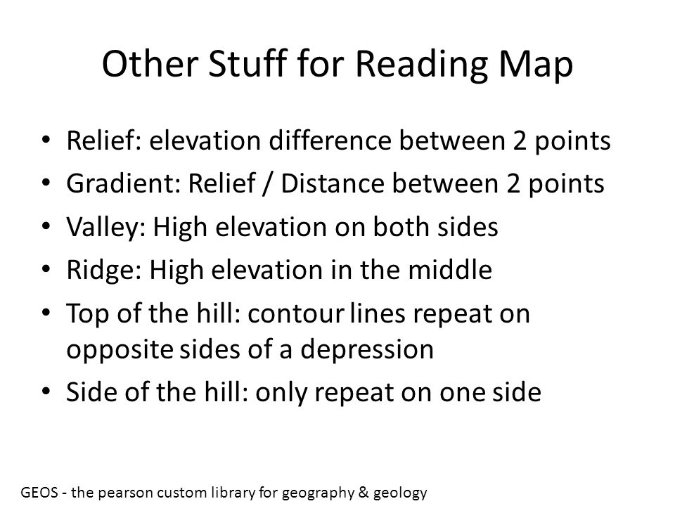 Other Stuff for Reading Map