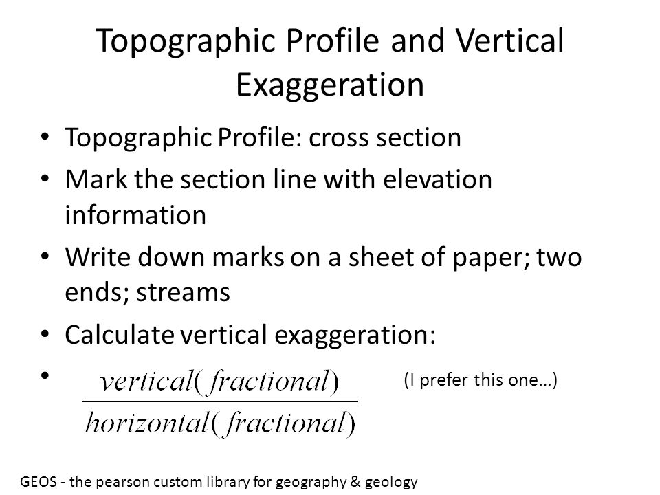 Topographic Profile and Vertical Exaggeration