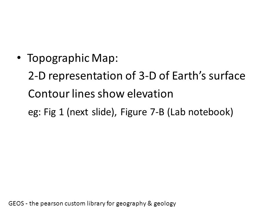 2-D representation of 3-D of Earth's surface