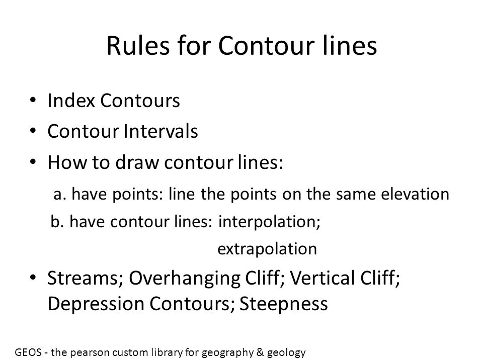 Rules for Contour lines