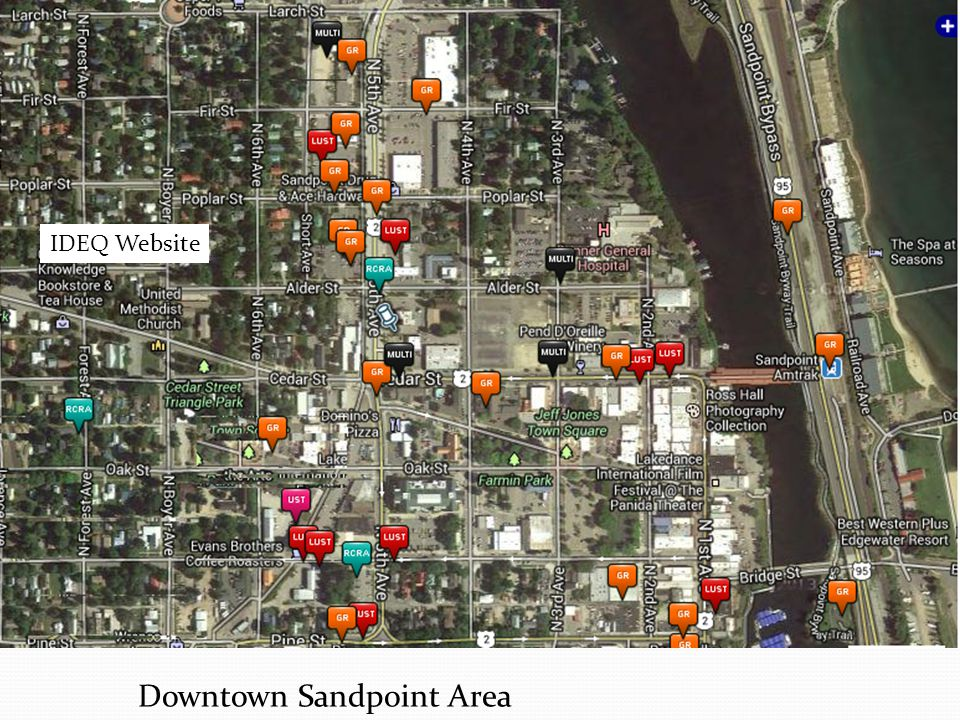 Downtown Sandpoint Area