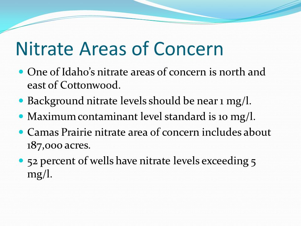 Nitrate Areas of Concern