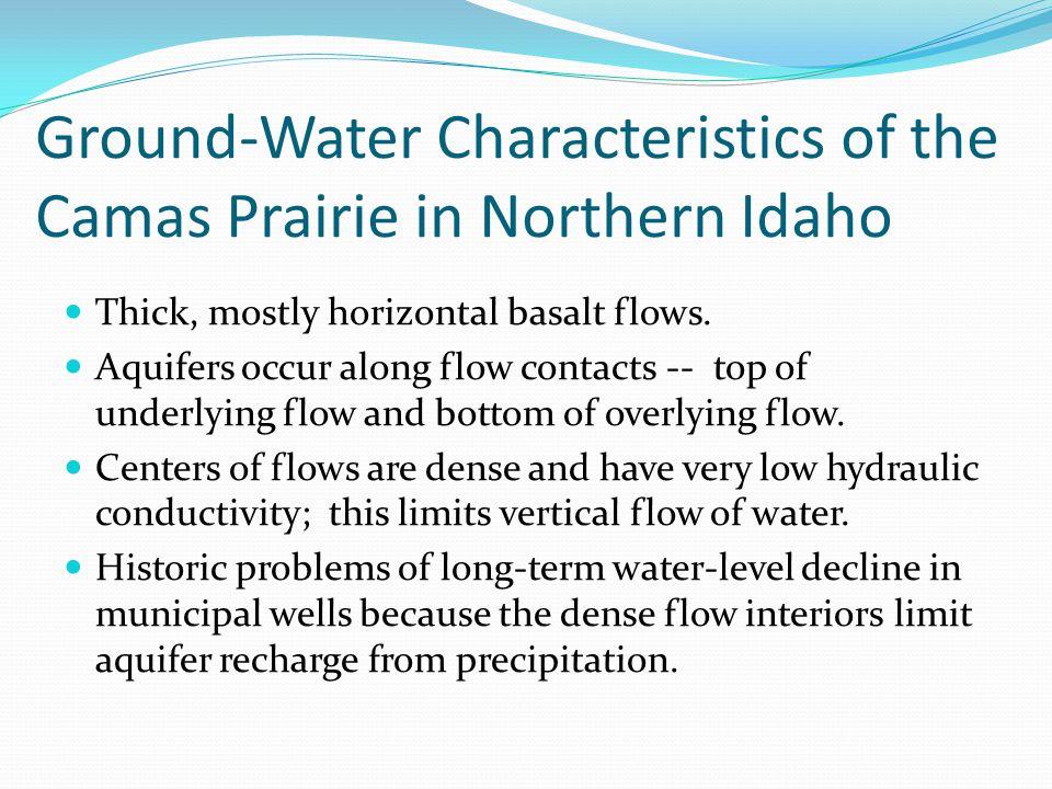 Ground-Water Characteristics of the Camas Prairie in Northern Idaho