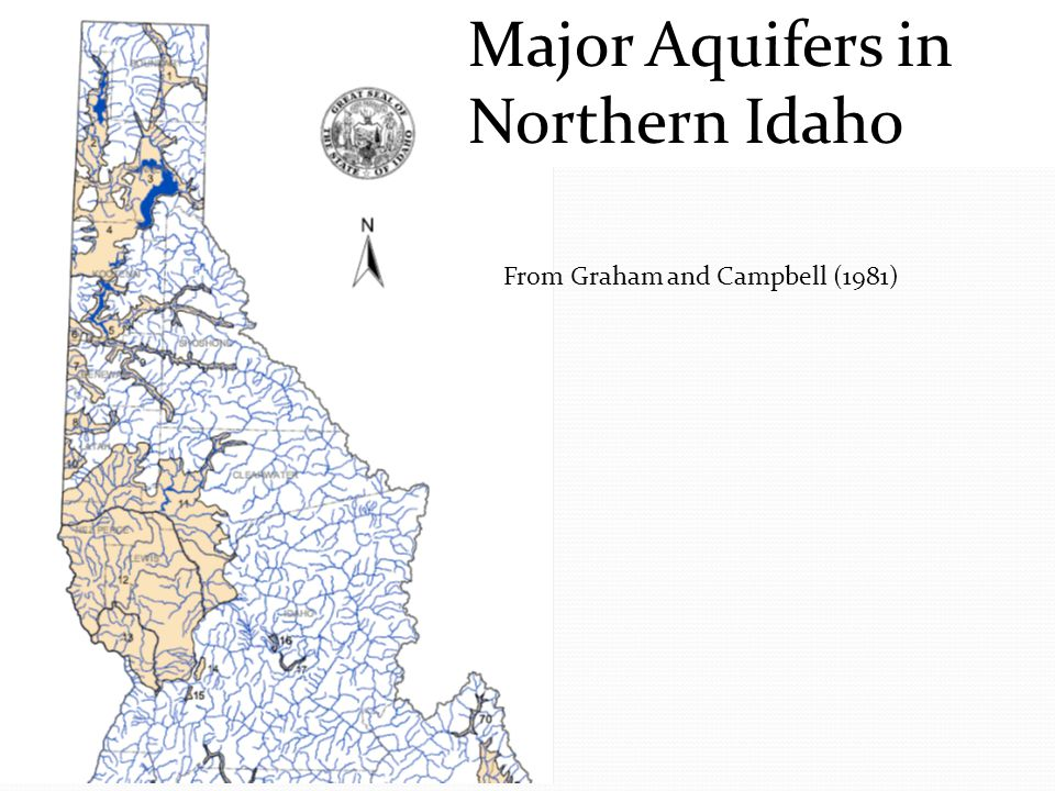 Major Aquifers in Northern Idaho From Graham and Campbell (1981)