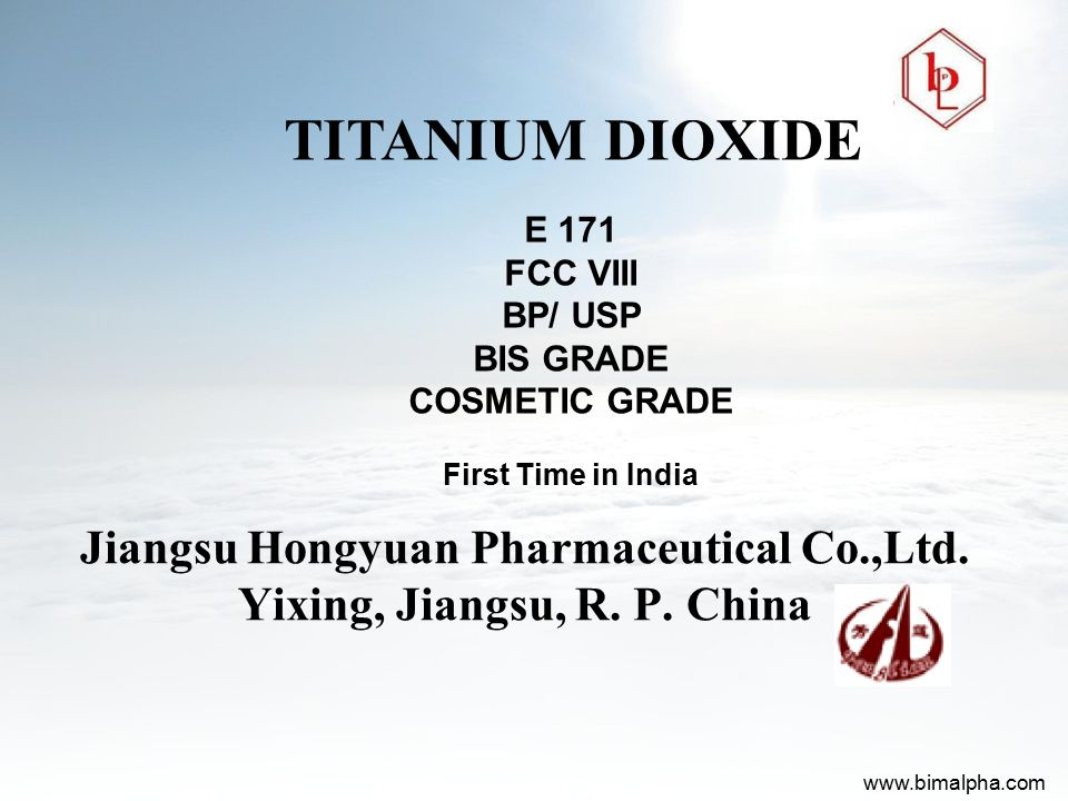 Jiangsu Hongyuan Pharmaceutical Co.,Ltd. Yixing, Jiangsu, R. P. China