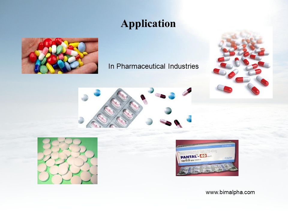 Application In Pharmaceutical Industries www.bimalpha.com