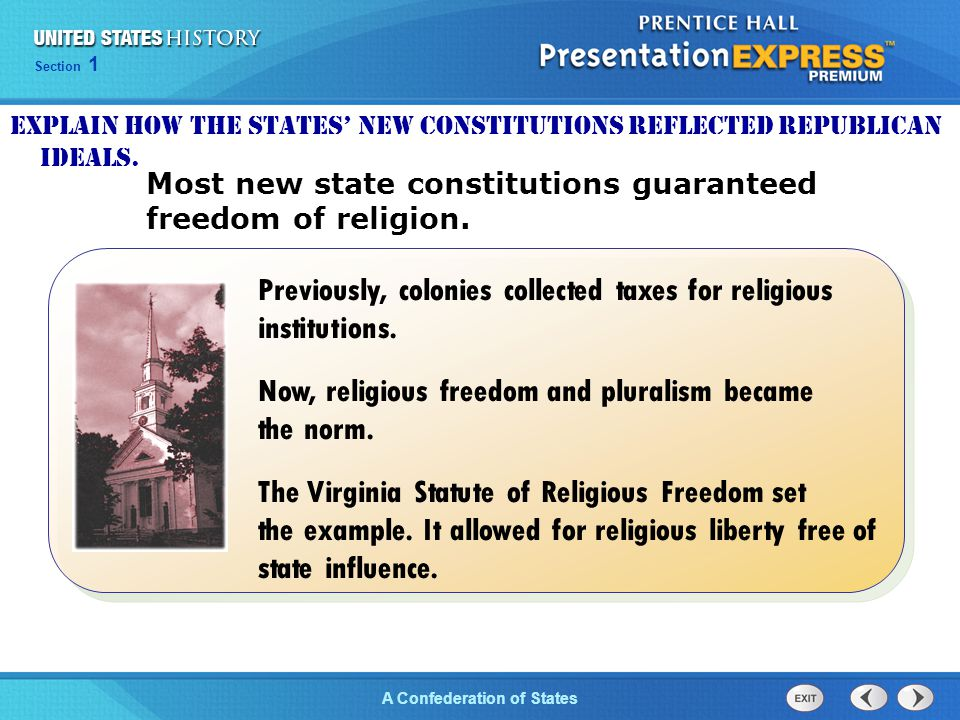 Previously, colonies collected taxes for religious institutions.